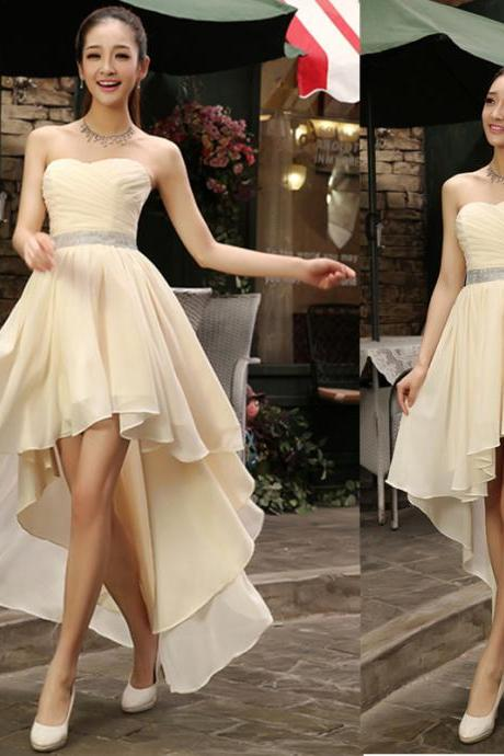 Prom Dress,Sexy Prom Dress, New Arrival High Low Prom Dress,Sleeveless Evening Dress,Sexy Prom Dresses,Chiffon Party Dress,High Quality Graduation Dresses,Wedding Guest Prom Gowns, Formal Occasion Dresses,Formal Dress