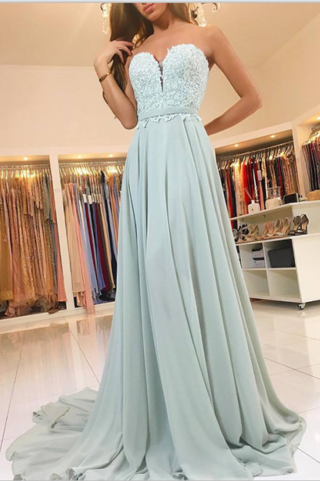 Sweetheart Chiffon ,Long Simple , ,Evening Dresses,Elegant Prom Gowns,Prom Dresses For Teens,Sweet 16 Dresses,Cute Dresses