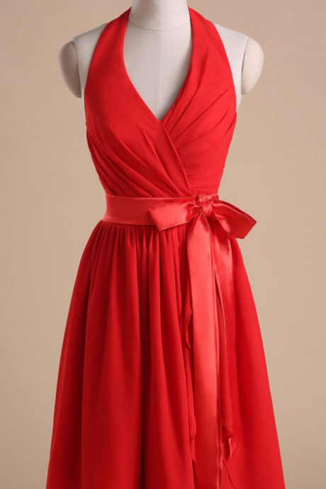 Cocktail Dresses , Bow Accent Waist,Prom Dresses , Bridesmaid Dress,