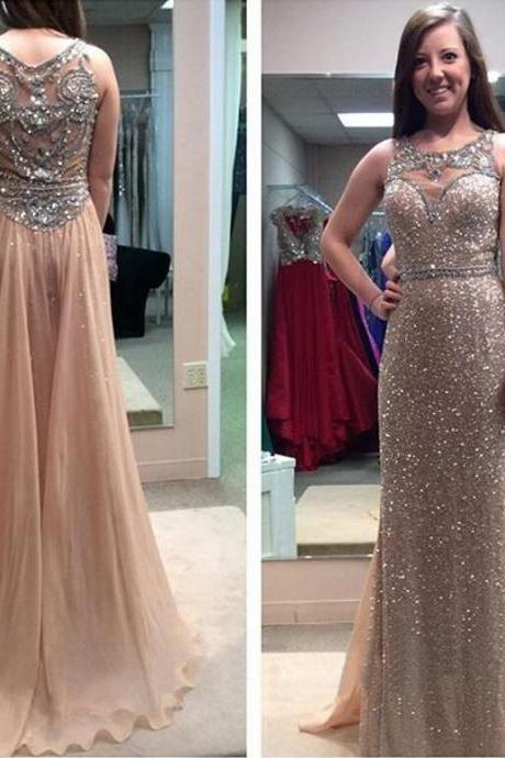 Beading Prom Dress, Sparkly Prom Dress, 2018 Prom Dress, Long Prom Dress, Junior Prom Dress, Sequin Prom Dress, Unique Prom Dress, Evening Dress